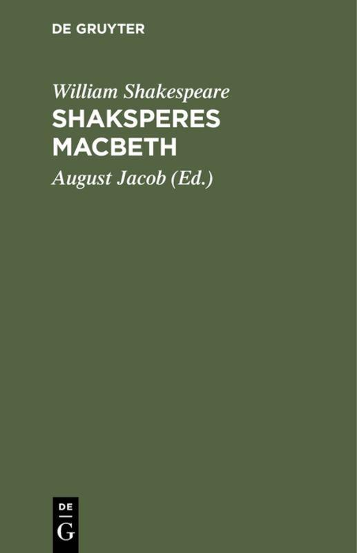 Cover-Bild Shaksperes Macbeth