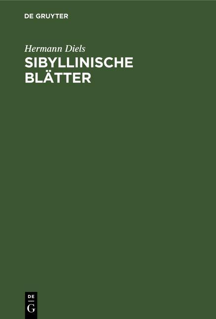 Cover-Bild Sibyllinische Blätter