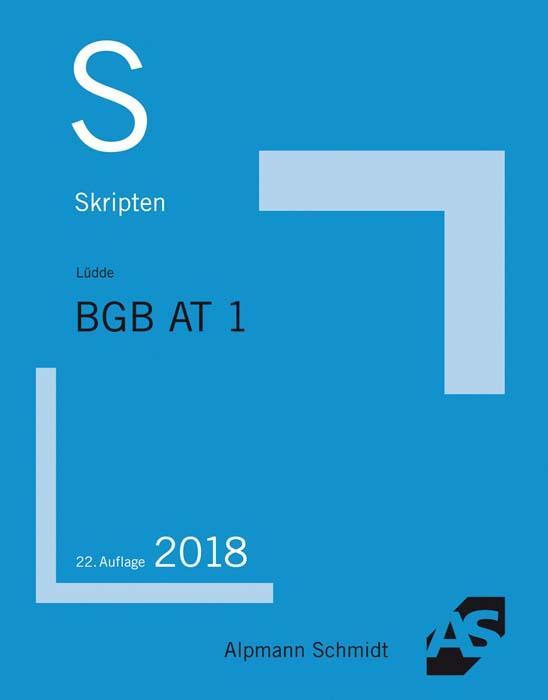 Cover-Bild Skript BGB AT 1