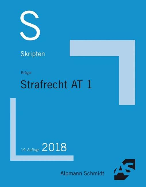 Cover-Bild Skript Strafrecht AT 1