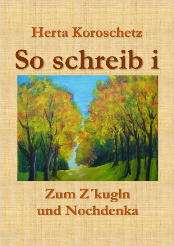 """Cover-Bild """"So schreib i"""""""