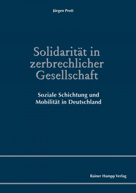 Cover-Bild Solidarität in zerbrechlicher Gesellschaft