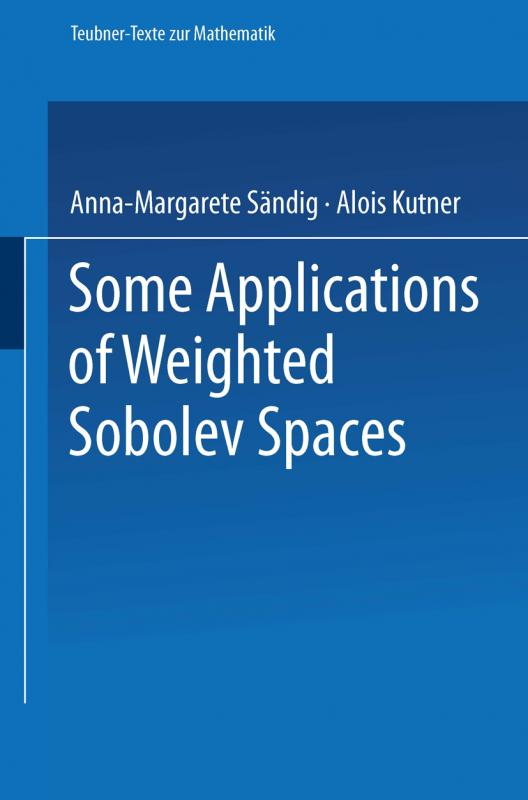 Cover-Bild Some Applications of Weighted Sobolev Spaces