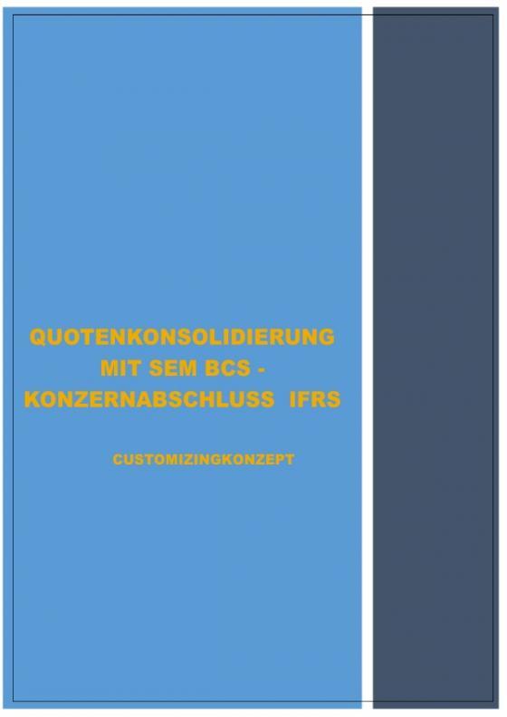 Cover-Bild SONDERTHEMENBEHANDLUNG - MIT SEM BCS - IM RAHMEN DER ERSTELLUNG KONZERNABSCHLUSS IFRS