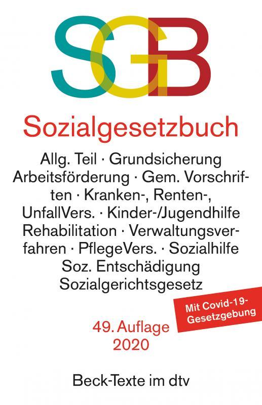 Cover-Bild Sozialgesetzbuch, mit Sozialgerichtsgesetz