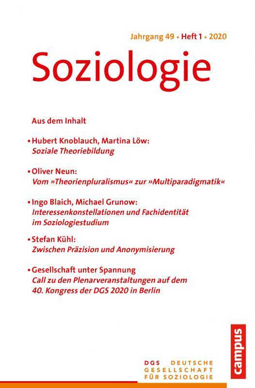 Cover-Bild Soziologie 1/2020