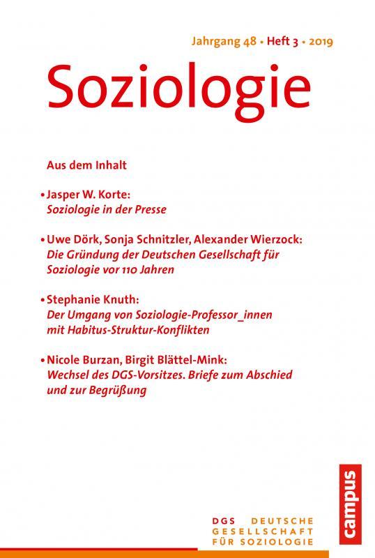 Cover-Bild Soziologie 3/2019