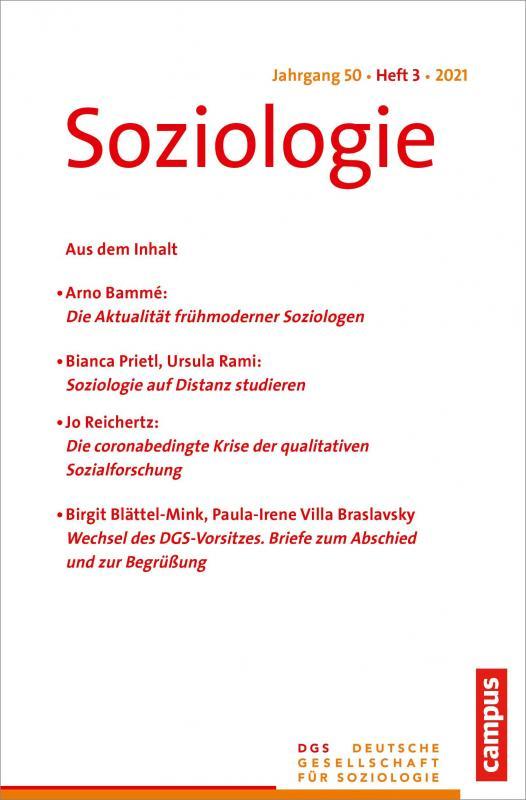Cover-Bild Soziologie 3/2021