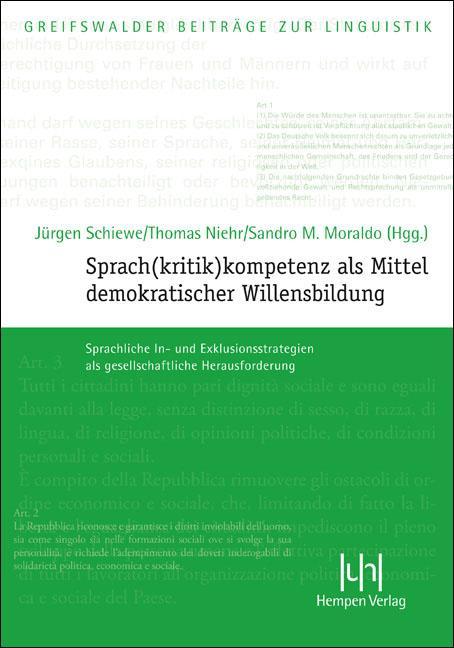 Cover-Bild Sprach(kritik)kompetenz als Mittel demokratischer Willensbildung