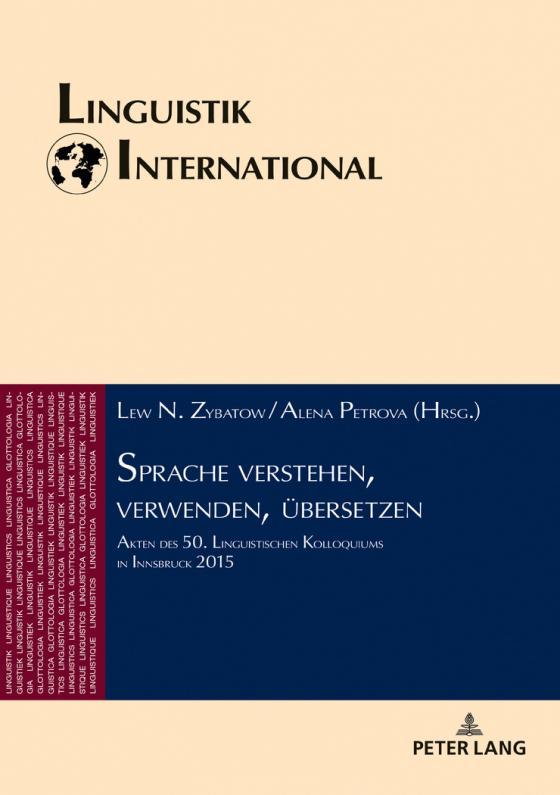 Cover-Bild Sprache verstehen, verwenden, übersetzen