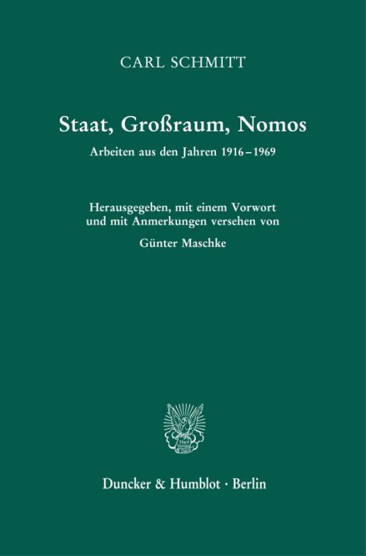 Cover-Bild Staat, Großraum, Nomos.