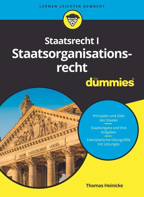 Cover-Bild Staatsrecht I Staatsorganisationsrecht für Dummies