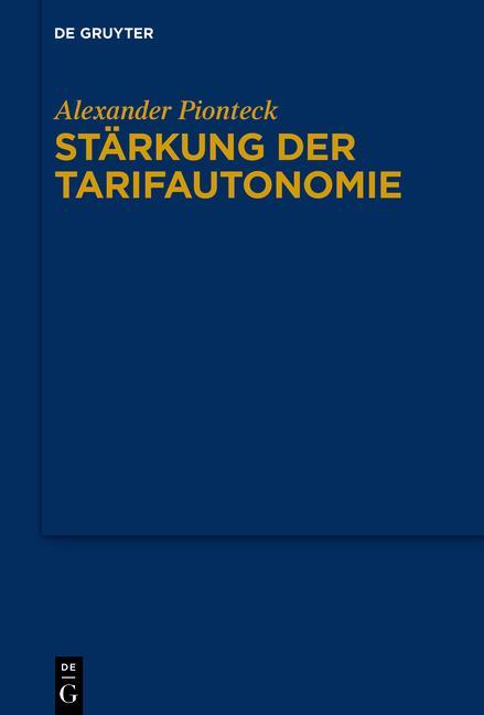 Cover-Bild Stärkung der Tarifautonomie