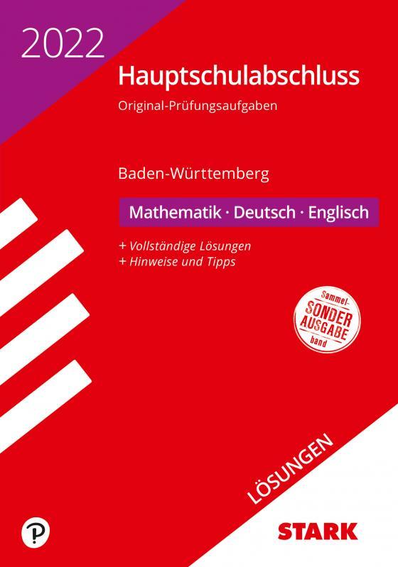 Cover-Bild STARK Lösungen zu Original-Prüfungen Hauptschulabschluss 2022 - Mathematik, Deutsch, Englisch 9. Klasse - BaWü