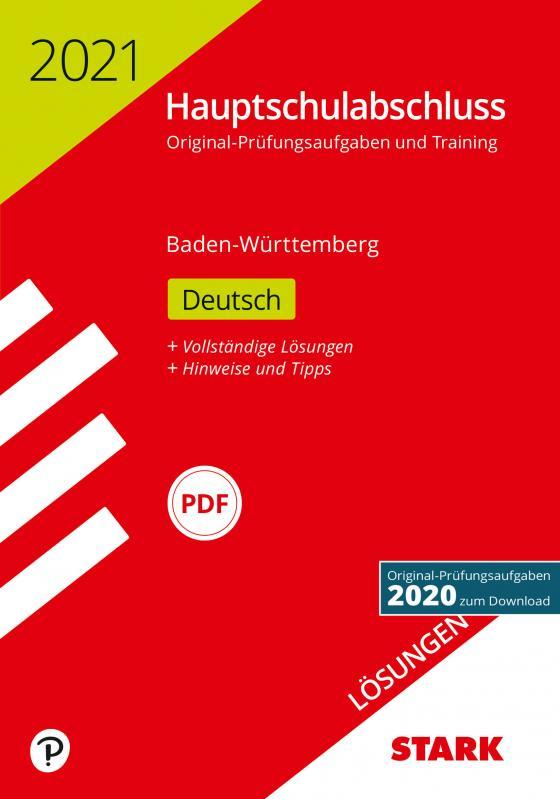 Cover-Bild STARK Lösungen zu Original-Prüfungen und Training Hauptschulabschluss 2021 - Deutsch 9. Klasse - BaWü