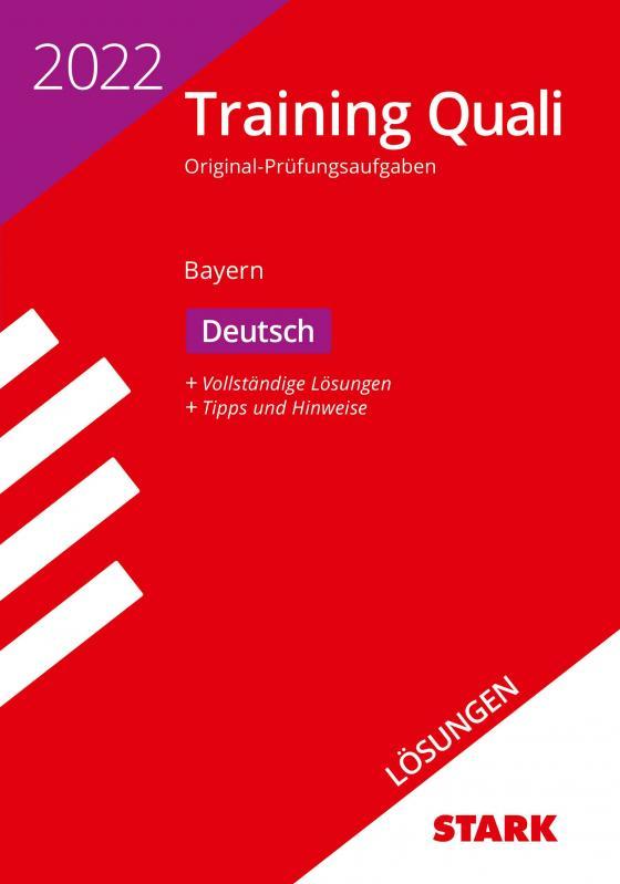 Cover-Bild STARK Lösungen zu Training Abschlussprüfung Quali Mittelschule 2022 - Deutsch 9. Klasse - Bayern
