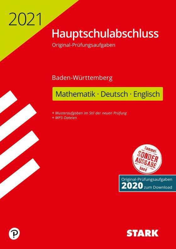 Cover-Bild STARK Original-Prüfungen Hauptschulabschluss 2021 - Mathematik, Deutsch, Englisch 9. Klasse - BaWü