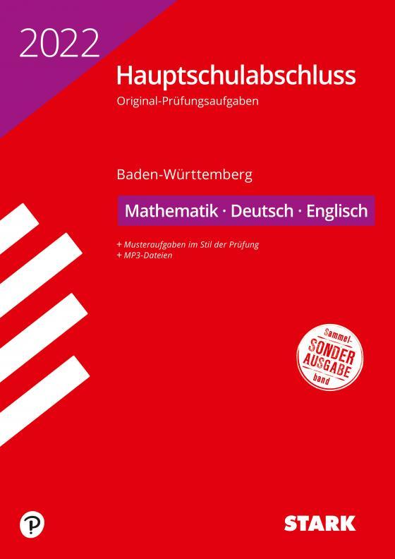 Cover-Bild STARK Original-Prüfungen Hauptschulabschluss 2022 - Mathematik, Deutsch, Englisch 9. Klasse - BaWü