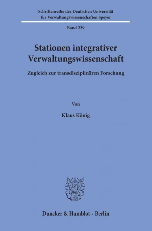 Cover-Bild Stationen integrativer Verwaltungswissenschaft.
