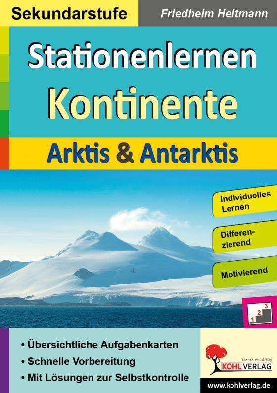 Cover-Bild Stationenlernen Kontinente / Arktis & Antarktis