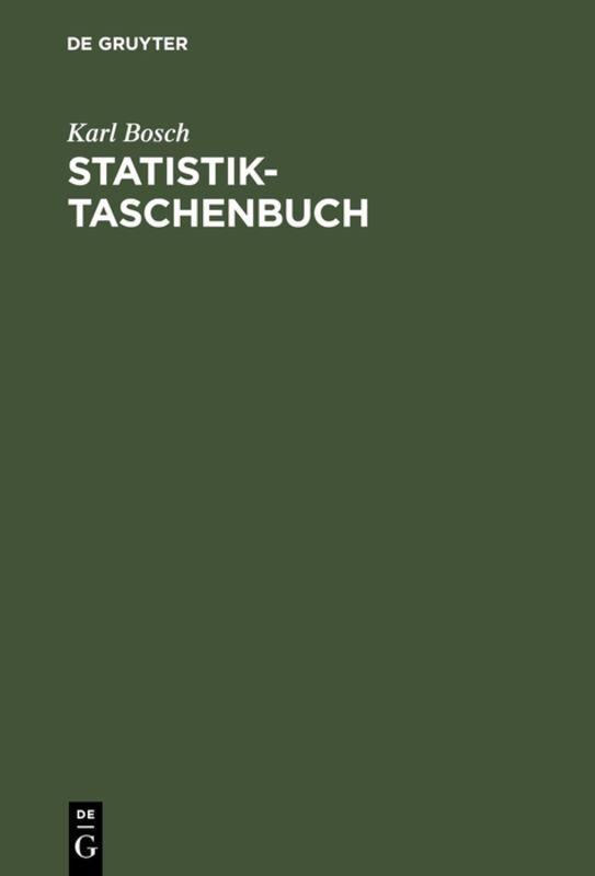 Cover-Bild Statistik-Taschenbuch