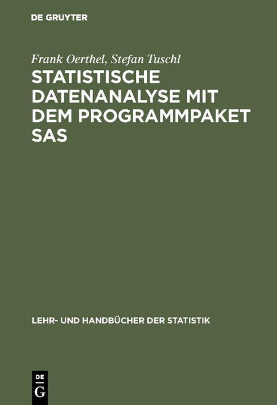 Cover-Bild Statistische Datenanalyse mit dem Programmpaket SAS