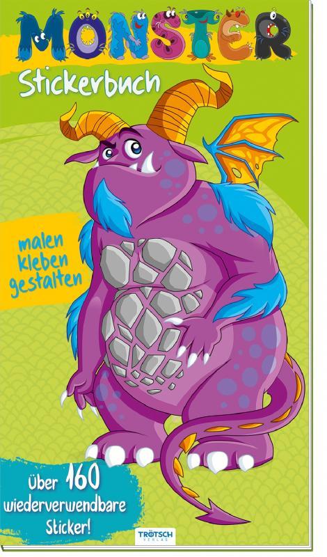 Cover-Bild Sticker-Malbuch MONSTER