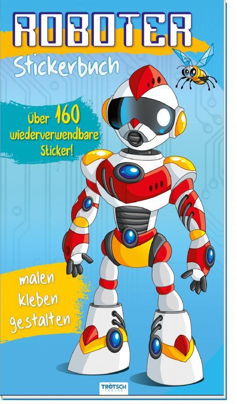 Cover-Bild Sticker-Malbuch ROBOTER