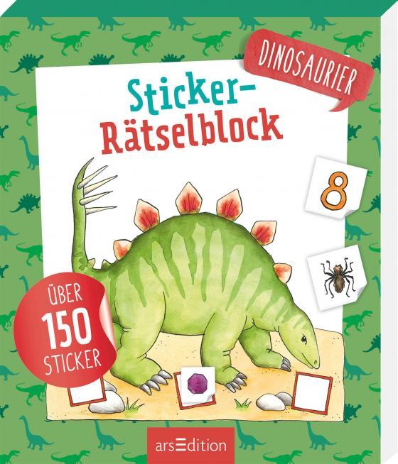 Cover-Bild Sticker-Rätselblock Dinosaurier