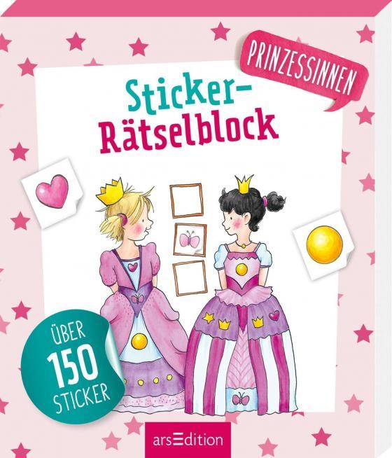 Cover-Bild Sticker-Rätselblock Prinzessinnen