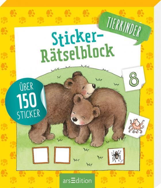 Cover-Bild Sticker-Rätselblock Tierkinder