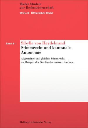 Cover-Bild Stimmrecht und kantonale Autonomie
