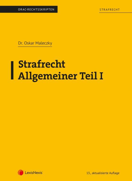 Cover-Bild Strafrecht - Allgemeiner Teil I (Skriptum)