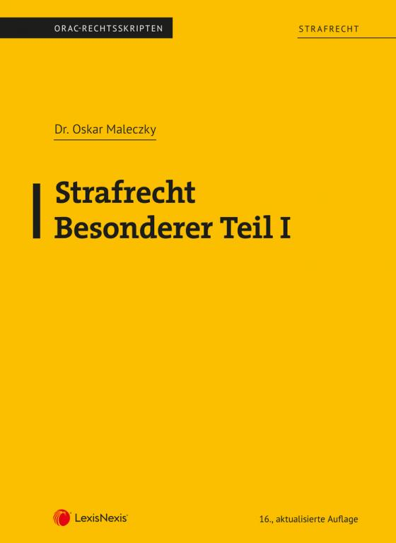 Cover-Bild Strafrecht - Besonderer Teil I (Skriptum)