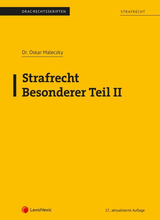 Cover-Bild Strafrecht - Besonderer Teil II (Skriptum)
