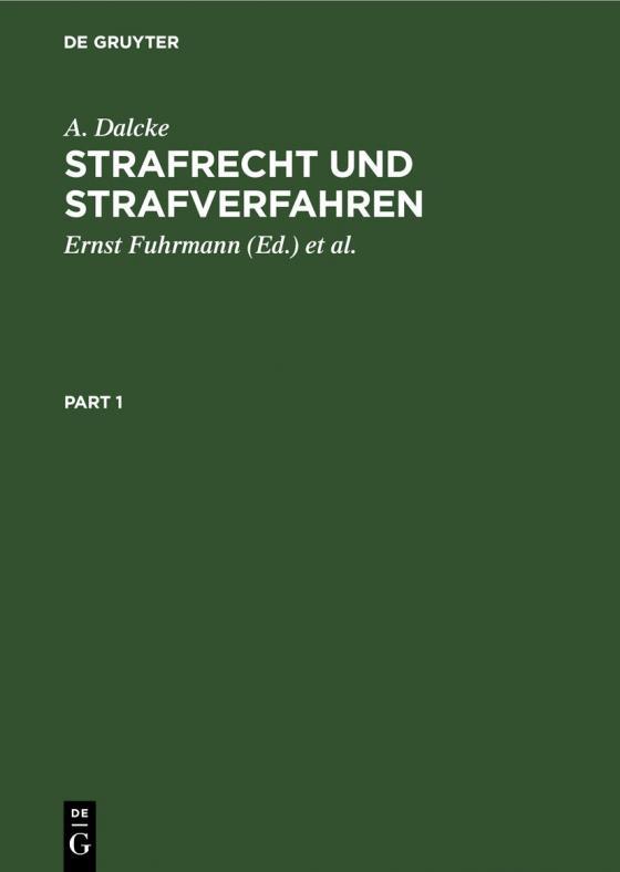 Cover-Bild Strafrecht und Strafverfahren