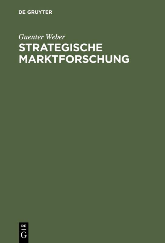 Cover-Bild Strategische Marktforschung