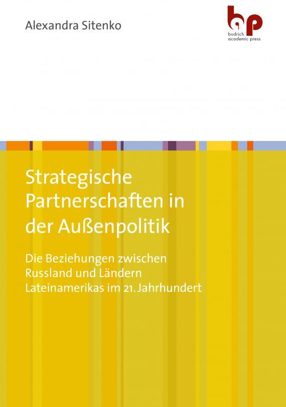 Cover-Bild Strategische Partnerschaften in der Außenpolitik
