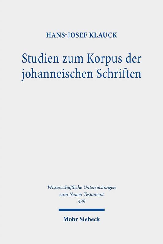 Cover-Bild Studien zum Korpus der johanneischen Schriften