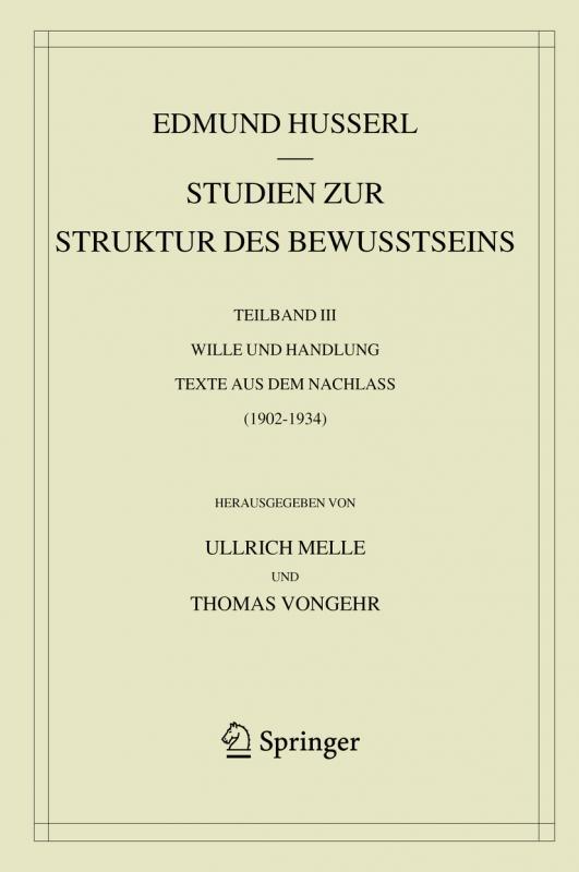 Cover-Bild Studien zur Struktur des Bewusstseins