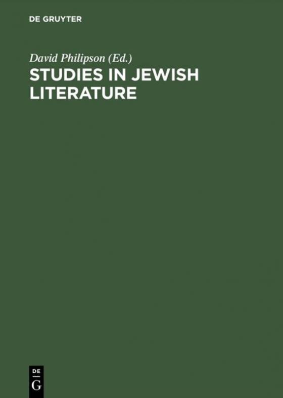 Cover-Bild Studies in Jewish literature