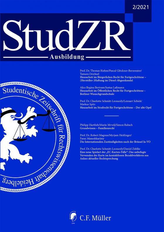 Cover-Bild StudZR Ausbildung 2/2021