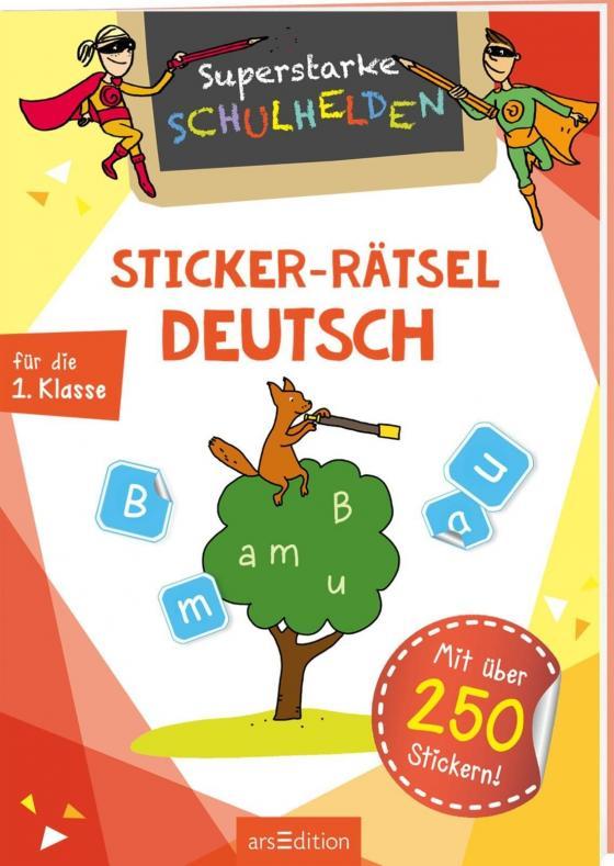 Cover-Bild Superstarke Schulhelden - Sticker-Rätsel Deutsch
