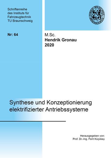 Cover-Bild Synthese und Konzeptionierung elektrifizierter Antriebssysteme