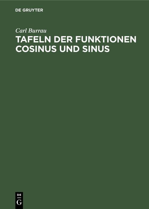 Cover-Bild Tafeln der Funktionen Cosinus und Sinus