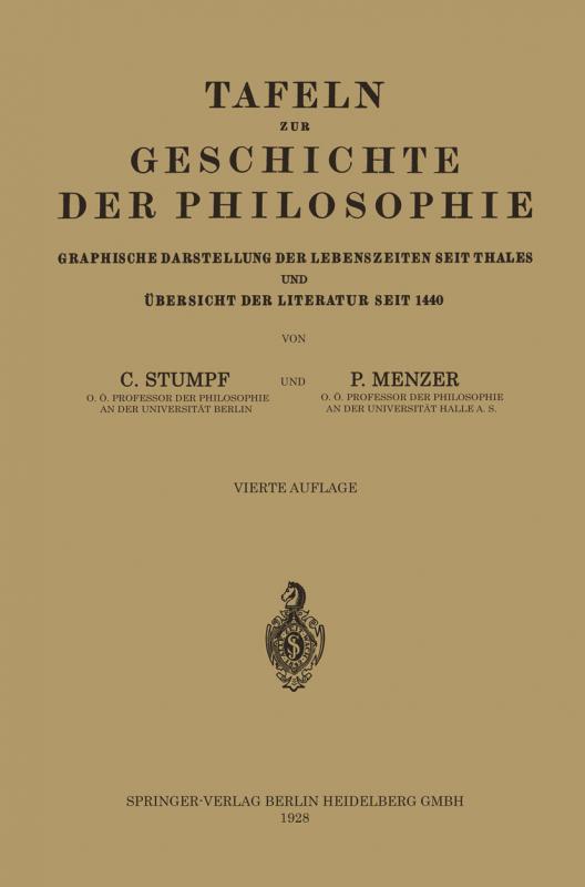Cover-Bild Tafeln zur Geschichte der Philosophie