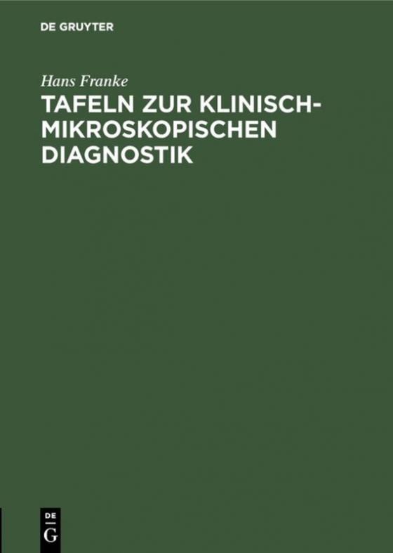 Cover-Bild Tafeln zur klinisch-mikroskopischen Diagnostik