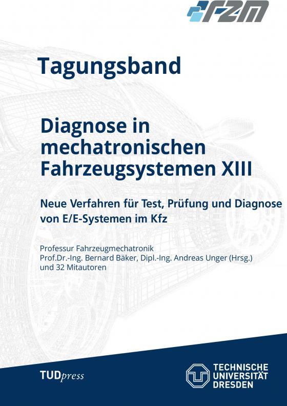 Cover-Bild Tagungsband Diagnose in mechatronischen Fahrzeugsystemen XIII