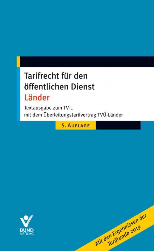Cover-Bild Tarifrecht für den öffentlichen Dienst - Länder