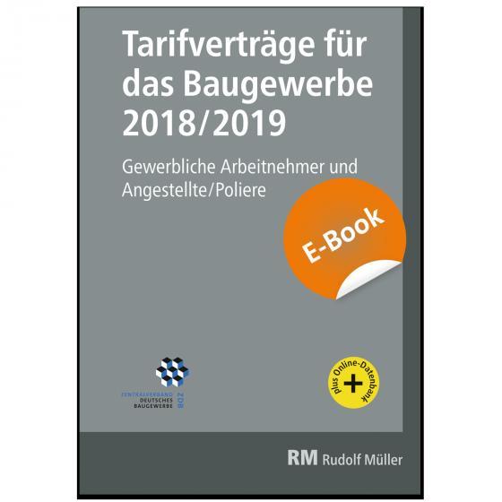Cover-Bild Tarifverträge für das Baugewerbe 2018/2019 - E-Book (PDF)